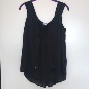 Tops - Black sleeveless top